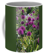Violet Flowerbed Coffee Mug