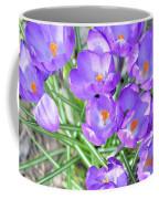 Violet Lilies Coffee Mug