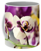 Violet Orchids Brushed With Gold Coffee Mug