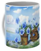 Violets On The Beach Coffee Mug