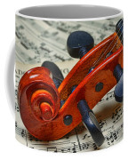 Violin Scroll Up Close Coffee Mug