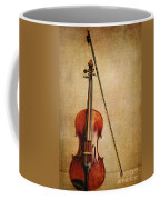 Violin With Bow Coffee Mug