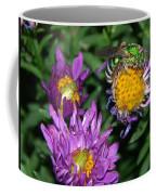 Virescent Metallic Green Bee Coffee Mug