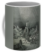 Virgil And Dante Looking At The Spider Woman, Illustration From The Divine Comedy Coffee Mug