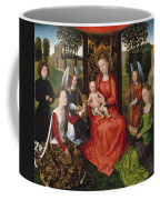 Virgin And Child With Saints Catherine Of Alexandria And Barbara Coffee Mug