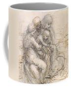 Virgin And Child With St. Anne Coffee Mug by Leonardo da Vinci
