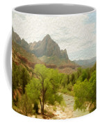 Virgin River Through Zion National Park 2 Coffee Mug