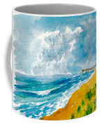 Virginia Beach With Pier Coffee Mug