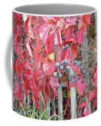 Virginia Creeper Fall Leaves And Berries Coffee Mug