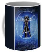 Vitruvian Cyberman In Deep Space  Coffee Mug