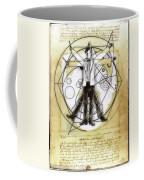 Vitruvian Dr Who Coffee Mug
