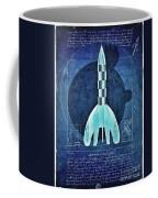 Vitruvian Tintin In Space Coffee Mug