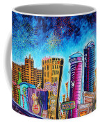 Viva Las Vegas A Fun And Funky Pop Art Painting Of The Vegas Skyline And Sign By Megan Duncanson Coffee Mug