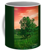 Vivid Blood Red Sky Coffee Mug
