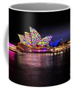 Vivid Sydney 2014 - Opera House 5 By Kaye Menner Coffee Mug