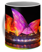 Vivid Sydney By Kaye Menner - Opera House ... Triangles Coffee Mug