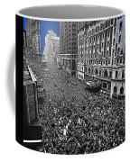 Vj Day Times Square New York City 1945 Color Added 2013 Coffee Mug