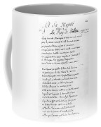 Voltaire Letter, 1740 Coffee Mug