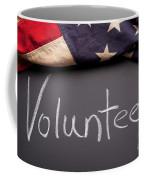 Volunteer Sign On Chalkboard Coffee Mug