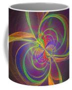 Vortex Abstract Digital Fractal Flame Art Coffee Mug