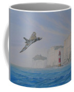 Vulcan Xh558 Passing Beachy Head Coffee Mug by Elaine Jones