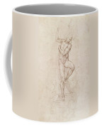W53r The Risen Christ Study For The Fresco Of The Last Judgement In The Sistine Chapel Vatican Coffee Mug by Michelangelo Buonarroti