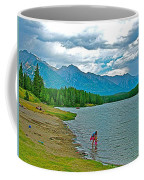 Wading In Johnson Lake In Banff Np-alberta Coffee Mug