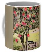 Wagon Wheel Bench Coffee Mug