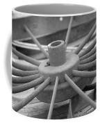 Wagon Wheel Black And White Coffee Mug