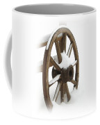 Wagon Wheel In Snow Coffee Mug