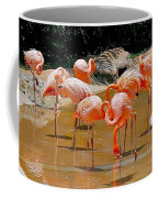 Waikiki Flamingos Coffee Mug