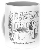Waiter Reads The Specials To A Man At Dinner Coffee Mug
