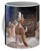 Waiting For Curtain Coffee Mug