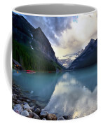Waiting For Sunrise At Lake Louise Coffee Mug