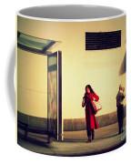Waiting For The Bus - New York City Street Scene Coffee Mug