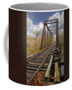 Waiting For The Train Coffee Mug by Debra and Dave Vanderlaan