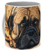 Waiting Bullmastiff Drawing Coffee Mug by Michelle Wrighton