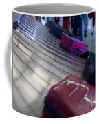 Waiting People Claim Baggage Airport Conveyor Belt Coffee Mug