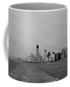 Wake In The Harbor In Black And White Coffee Mug