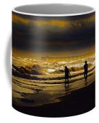 Walk In The Surf Colored Coffee Mug