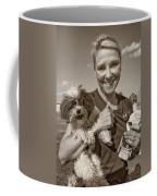 Walkies Sepia Coffee Mug by Steve Harrington