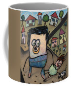 Walkin The Dog Coffee Mug by James W Johnson