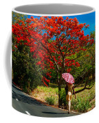 Walking Along The Road. Mauritius Coffee Mug