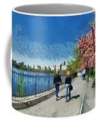 Walking Around Reservoir In Central Park Coffee Mug