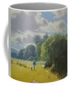walking down by Borth River Coffee Mug