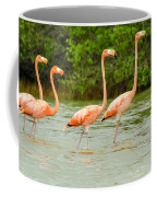 Walking Flamingos Coffee Mug