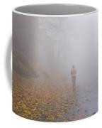Walking On A Foggy Road Coffee Mug
