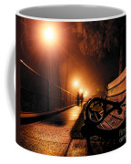 Walking On A Misty Evening Coffee Mug