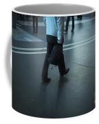Walking On A Train Station Coffee Mug