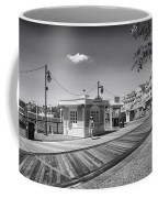 Walking On The Boardwalk In Black And White Walt Disney World Coffee Mug